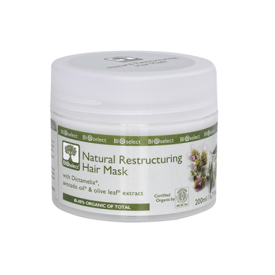 BioSelect Organics Φυσική Αναδομητική Μάσκα Μαλλιών 200ml