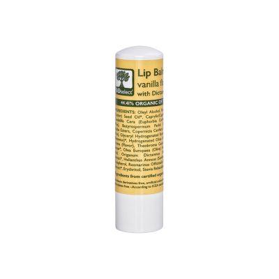 BioSelect Organics 100% Organic Lip Balm Για Τα Χείλη Βανίλια 4,4g