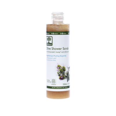 BioSelect Organics Αφρόλουτρο Peeling Σώματος Με Κουκούτσι Ελιάς 250ml
