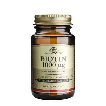 Solgar Biotin 1000μg 50 Φυτικές Κάψουλες