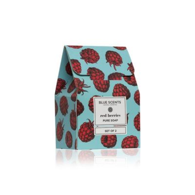 Blue Scents Set of 2 Soaps Red Berries 135gr