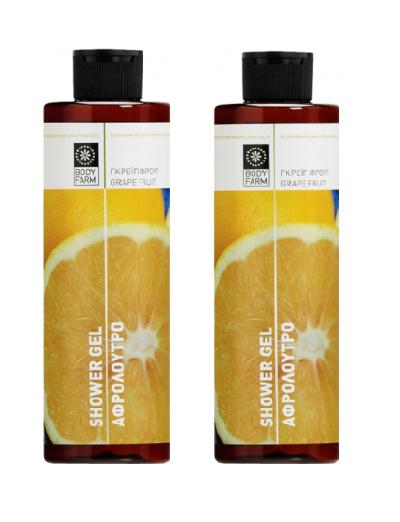 Bodyfarm Αφρόλουτρο Λάιμ & Γκρέιπφρουτ 1+1 Δώρο 2x250ml