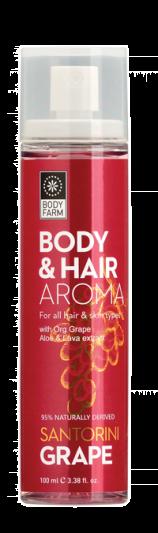 Bodyfarm Body & Hair Mist Santorini Grape 100ml