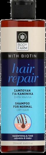 Bodyfarm Hair Repair Σαμπουάν για Κανονικά, Ξηρά Μαλλιά 250ml