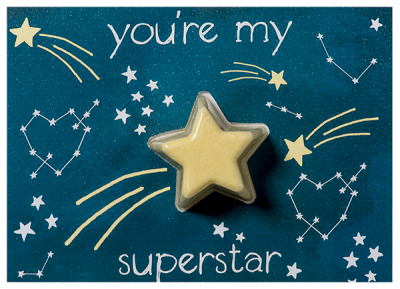 Bomb Cosmetics Ευχετήρια Κάρτα You are my Superstar