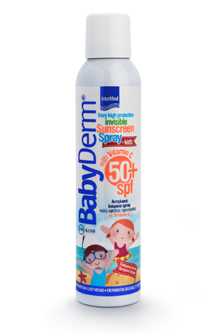 Intermed Babyderm Invisible Sunscreen Spray Spf50+ for Kids 200ml