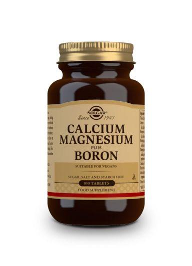 Solgar Calcium, Magnesium Plus Boron 100 Ταμπλέτες
