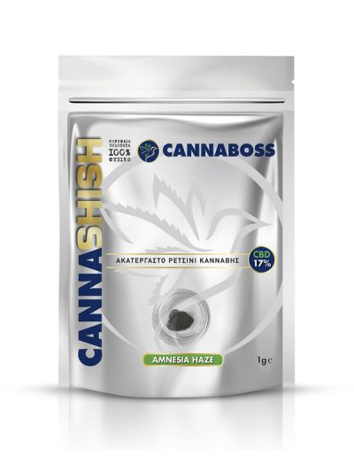 Cannaboss CannaShish CBD Solid – Amnesia Haze 17% 1g