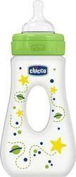 Chicco Μπιμπερό με Λαβή Λαχανί 4+, Θηλή Σιλικόνης, 240ml