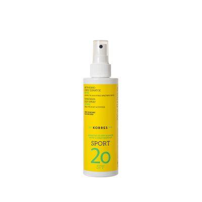 Korres Αντηλιακό Spray Σώματος Sport SPF20 με Κίτρο 200ml