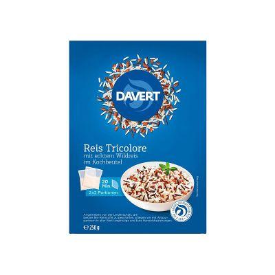 Davert Ρύζι Τρίχρωμο με Ρύζι Άγριο σε Σακουλάκι Βρασμού 250g