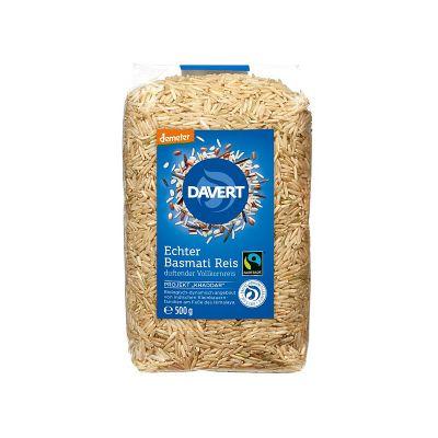 Davert Αυθεντικό Ρύζι Μπασμάτι Αναποφλοίωτο Demeter Fairtrade 500g