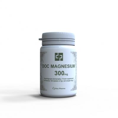 Doc Pharma Συμπλήρωμα Διατροφής Μαγνήσιο 300mg 60 Δισκία