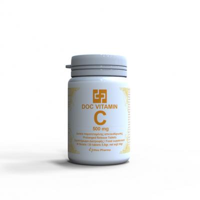 Doc Pharma Βιταμίνη C 500mg 30 Δισκία