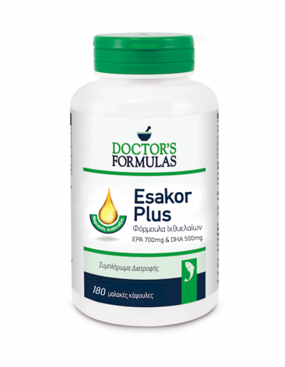 Doctor's Formulas Esakor Plus Φόρμουλα Ιχθυελαίων 180 Μαλακές Κάψουλες