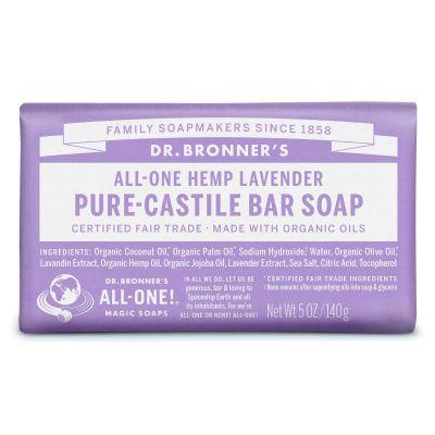 Dr.Bronner's Pure-Castile Bar Soap Lavender 140gr