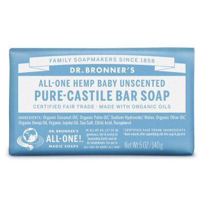 Dr.Bronner's Pure-Castile Bar Soap Baby Unscented 140gr