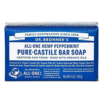 Dr.Bronner's Pure-Castile Bar Soap Peppermint 140gr