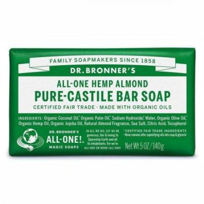 Dr.Bronner's Pure-Castile Bar Soap Almond 140gr