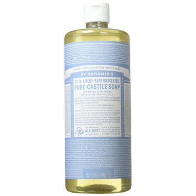 Dr.Bronner's Baby Unscented Pure-Castile Liquid Soap 946ml