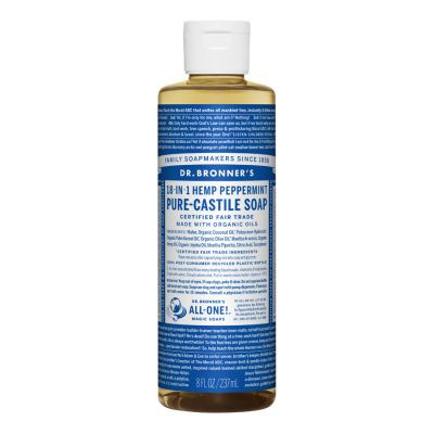 Dr.Bronner's Peppermint Pure-Castile Liquid Soap 237ml