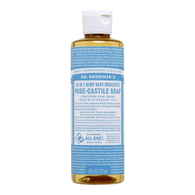Dr.Bronner's Baby Unscented Pure-Castile Liquid Soap 237ml