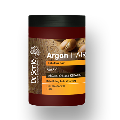 Dr.Santé Argan Μάσκα για Κατεστραμμένα Μαλλιά 1Lt