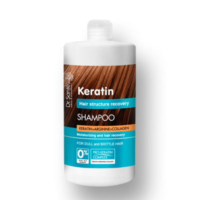 Dr.Santé Keratin Σαμπουάν για Θαμπά & Εύθραυστα Μαλλιά με Αντλία 1Lt