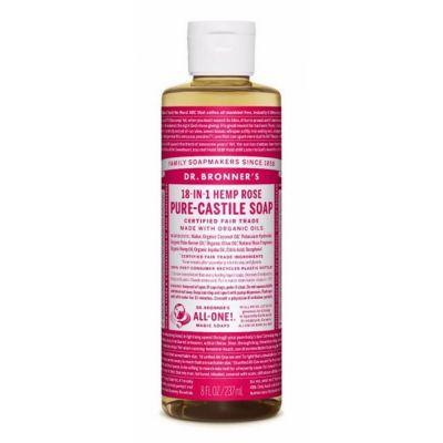Dr.Bronner's Rose Pure-Castile Liquid Soap 237ml