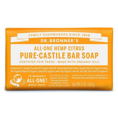 Dr.Bronner's Citrus Pure-Castile Bar Soap 140gr
