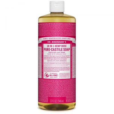 Dr.Bronner's Rose Pure-Castile Liquid Soap 946ml