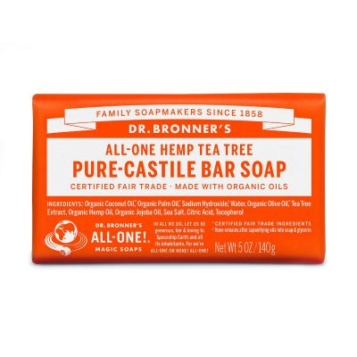 Dr.Bronner's Tea Tree Pure-Castile Bar Soap 140gr