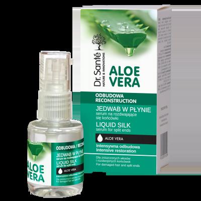 Dr.Santé Aloe Vera Liquid Silk για Θαμπά και Εύθραυστα Μαλλιά 30ml