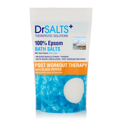 DrSalts Epsom Bath Salts Post Workout Therapy With Black Pepper 1000gr