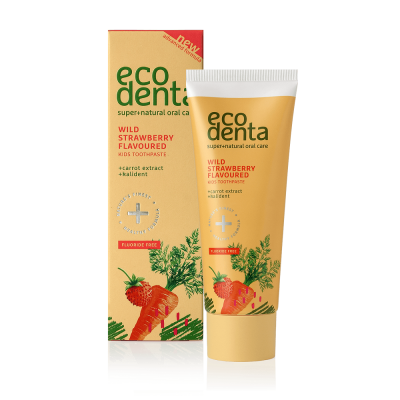 Ecodenta Οδοντόκρεμα για Παιδιά με Φράουλα, εκχύλισμα Καρότου και Kalident 75ml