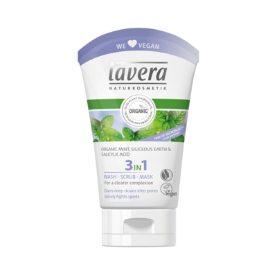 Lavera Facial Care 3σε1 Καθαρισμός+Απολέπιση+Μάσκα 125ml