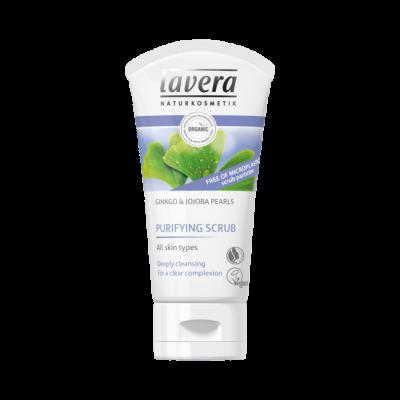 Lavera Facial Care Πίλινγκ Καθαρισμού Προσώπου Με Ginkgo Και Πέρλες Jojoba 50ml