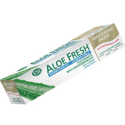 ESI Aloe Fresh Whitening Paste Λευκαντική Οδοντόκρεμα Κατάλληλη για Ομοιοπαθητική 100ml