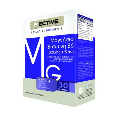F|ECTIVE Μαγνήσιο + Βιταμίνη Β6 30tabs