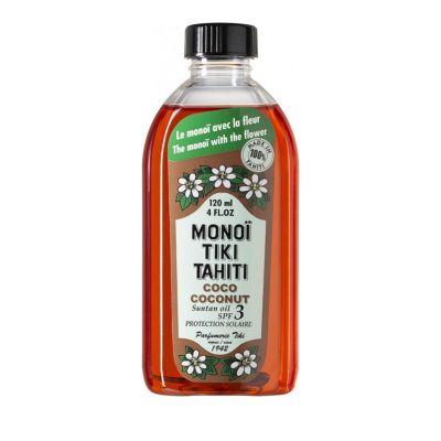 Monoi Tiki Coconut Λάδι Γρήγορου Μαυρίσματος, με Άρωμα Καρύδα, Spf3, 120ml