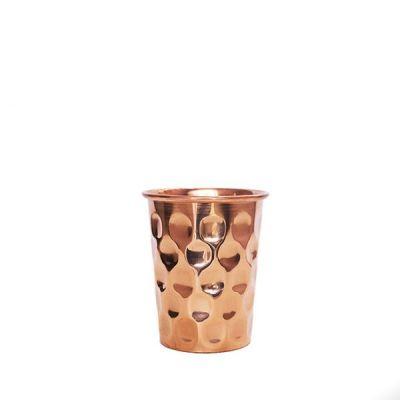 Forrest & Love Χάλκινο Ποτήρι Νερού με όψη διαμαντιού 300ml