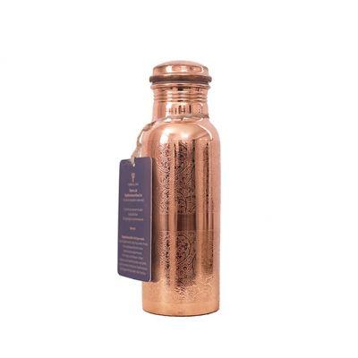 Forrest & Love Σκαλιστό Χάλκινο Μπουκάλι Νερού 600ml