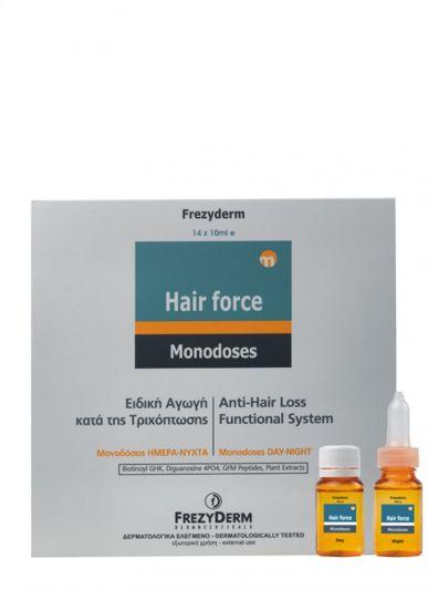 Frezyderm Hair Force Monodose Day-Night - Ειδική Αγωγή κατά της Τριχόπτωσης 14*10 ml