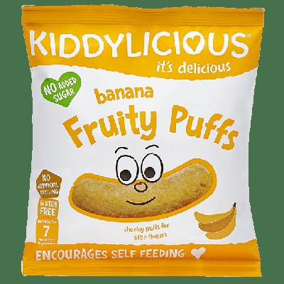 Kiddylicious Banana Fruity Puffs 7m+ Γαριδάκια Μπανάνα 10g