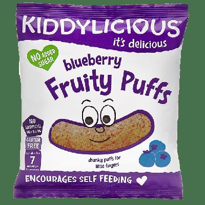 Kiddylicious Blueberry Fruity Puffs 7m+ Γαριδάκια Μύρτιλο 10g