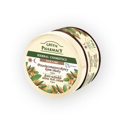 Green Pharmacy Αντιρυτιδική Κρέμα Προσώπου Argan για Ξηρές Επιρρεπείς σε Ρυτίδες και Ερεθισμούς Επιδερμίδες 150ml