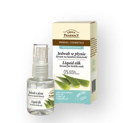 Green pharmacy Υγρός Ορός Μεταξιού για Εύθραυστες Άκρες με Εκχύλισμα Aloe Vera 30ml
