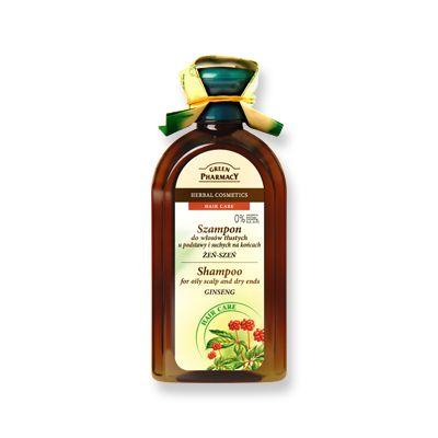 Green Pharmacy Σαμπουάν Ginseng για Λιπαρά στη Βάση και Ξηρά στις Άκρες 350ml