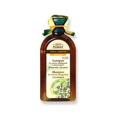 Green Pharmacy Σαμπουάν Chamomile για Αδύναμα και Κατεστραμμένα Μαλλιά 350 ml