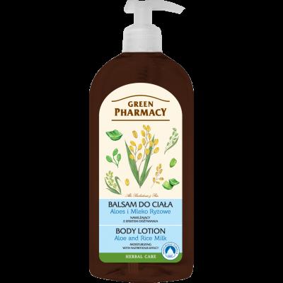 Green Pharmacy Γαλάκτωμα Σώματος Aloe Vera & Rice Milk 500ml